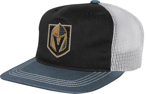 70190dbe00d NHL Youth Vegas Golden Knights Striped Trucker Adjustable Hat.  noImageFound. Previous