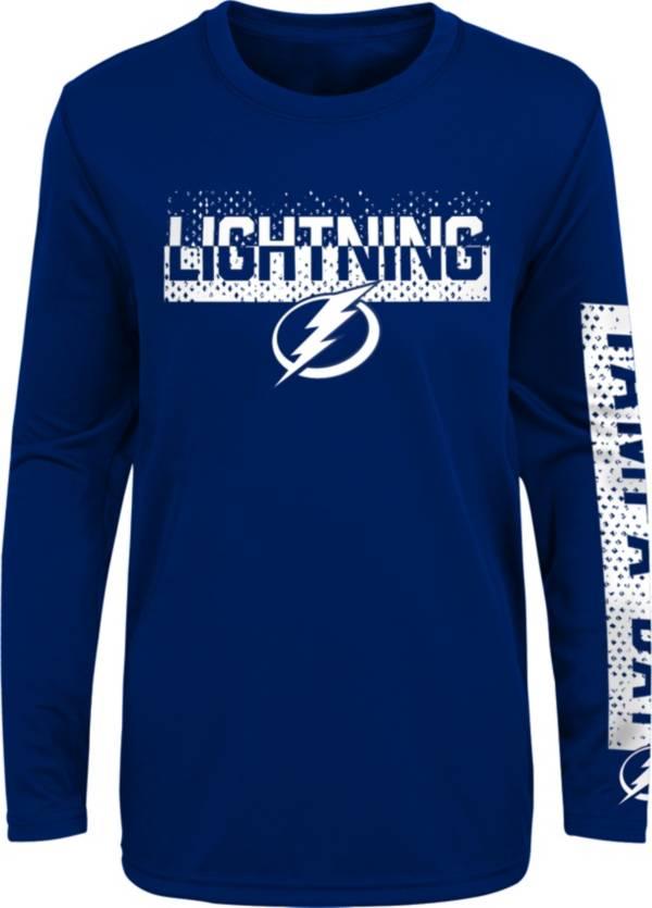 NHL Youth Tampa Bay Lightning Slap Shot Royal Long Sleeve Shirt product image
