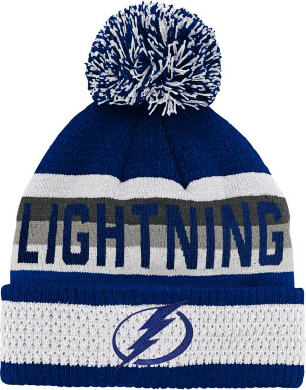 NHL Youth Tampa Bay Lightning Cuff Pom Knit Beanie product image