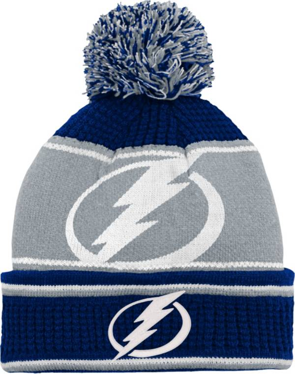 NHL Youth Tampa Bay Lightning Grind Cuff Pom Knit Beanie product image