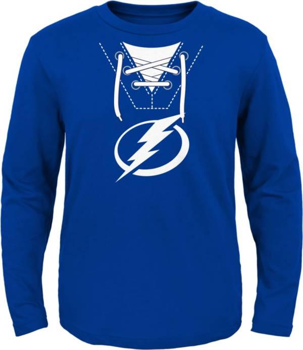 NHL Toddler Tampa Bay Lightning Mock Jersey Royal Long Sleeve Shirt product image