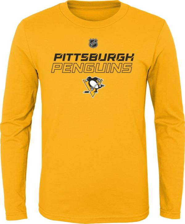 NHL Youth Pittsburgh Penguins Prime Stock Gold Long Sleeve Shirt product image