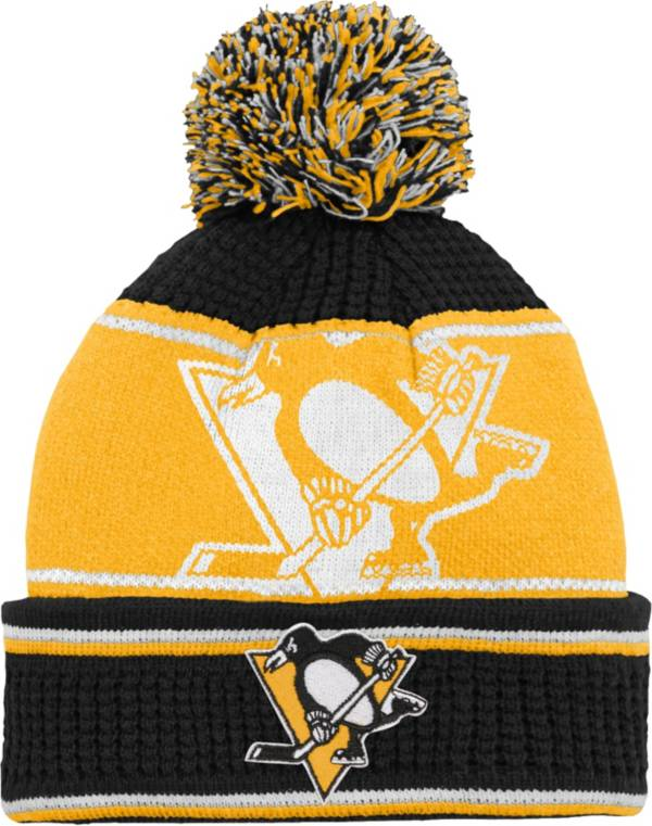 NHL Youth Pittsburgh Penguins Grind Cuff Pom Knit Beanie product image