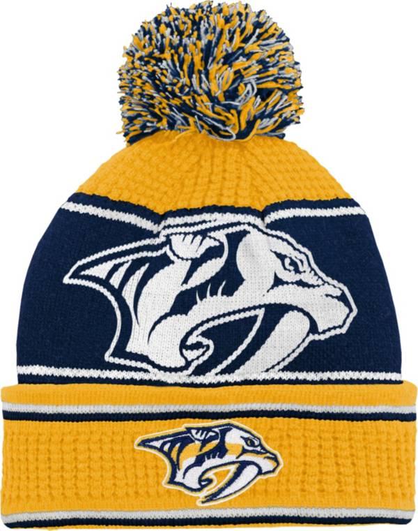 NHL Youth Nashville Predators Grind Cuff Pom Knit Beanie product image