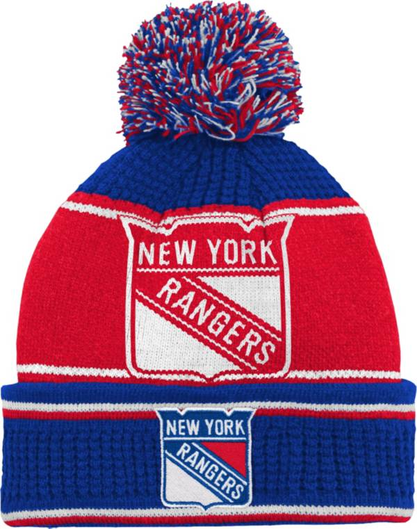 NHL Youth New York Rangers Grind Cuff Pom Knit Beanie product image