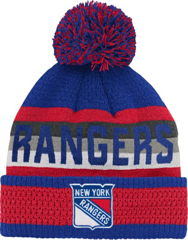 NHL Youth New York Rangers Cuff Pom Knit Beanie product image