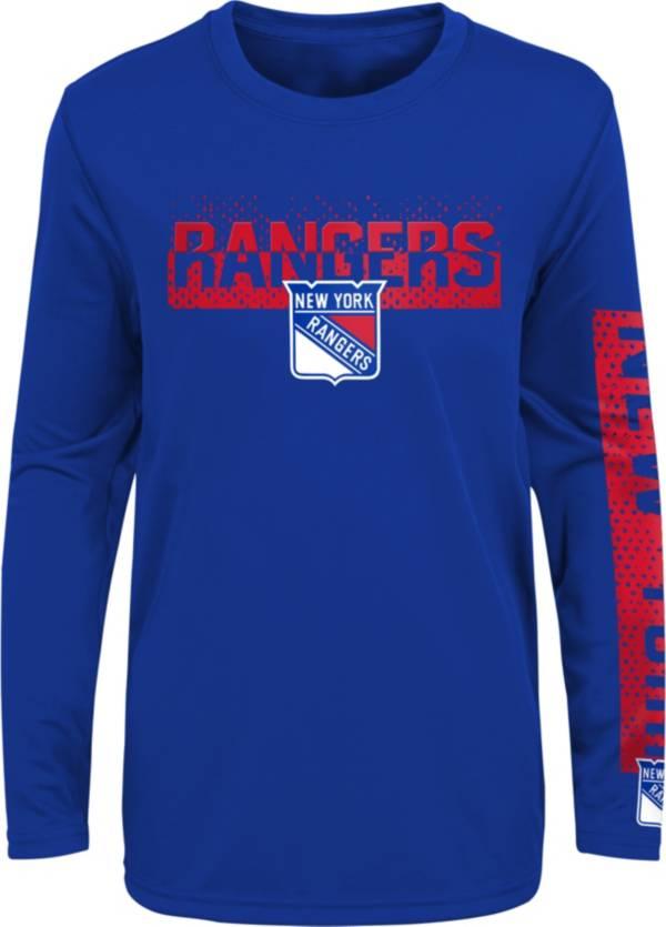 NHL Youth New York Rangers Slap Shot Royal Long Sleeve Shirt product image