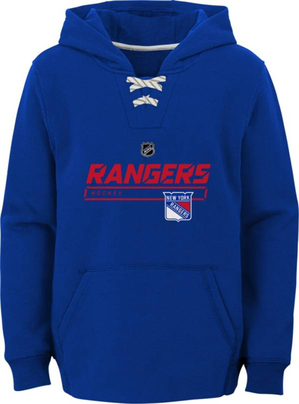 NHL Youth New York Rangers On Ice Royal Pullover Hoodie product image