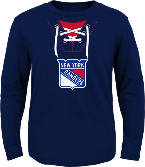 NHL Toddler New York Rangers Mock Jersey Royal Long Sleeve Shirt product image