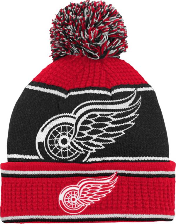 NHL Youth Detroit Red Wings Grind Cuff Pom Knit Beanie product image