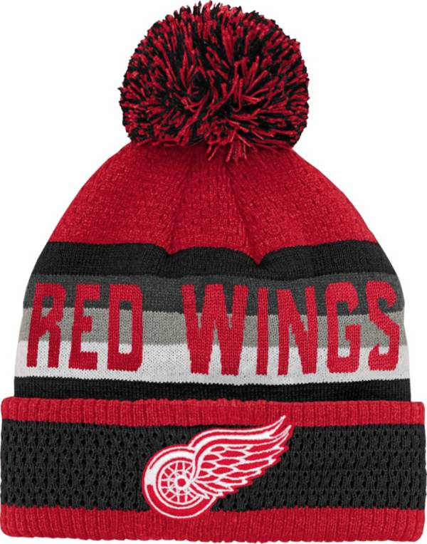 NHL Youth Detroit Red Wings Cuff Pom Knit Beanie product image