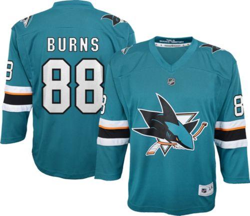 low priced 429b1 fda61 NHL Youth San Jose Sharks Brent Burns  88 Replica Home Jersey