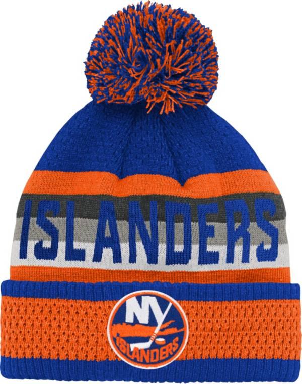 NHL Youth New York Islanders Cuff Pom Knit Beanie product image