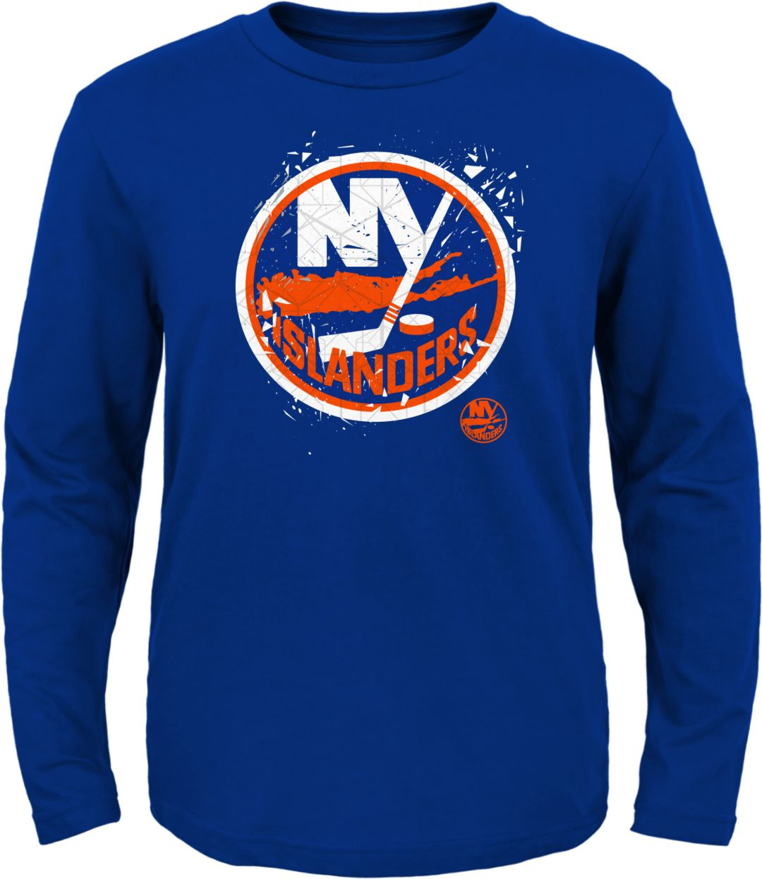 sale retailer faea2 9f279 NHL Youth New York Islanders Deconstructed Royal Long Sleeve Shirt