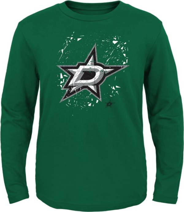 NHL Youth Dallas Stars Deconstructed Green Long Sleeve Shirt product image