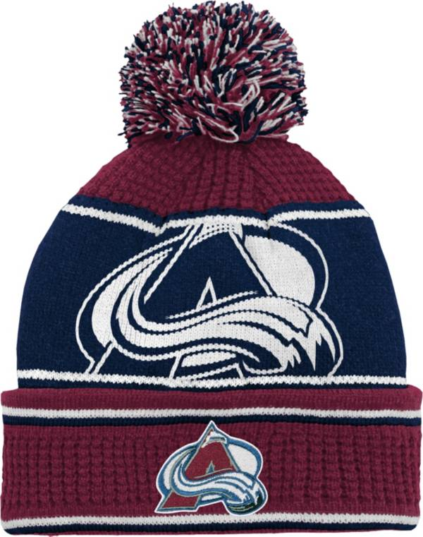 NHL Youth Colorado Avalanche Grind Cuff Pom Knit Beanie product image