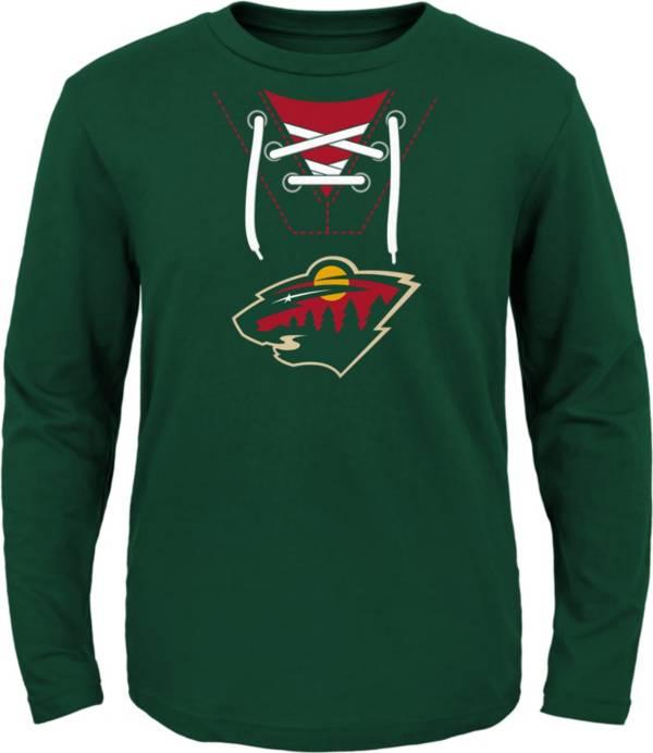 NHL Toddler Minnesota Wild Mock Jersey Hunter Long Sleeve Shirt product image