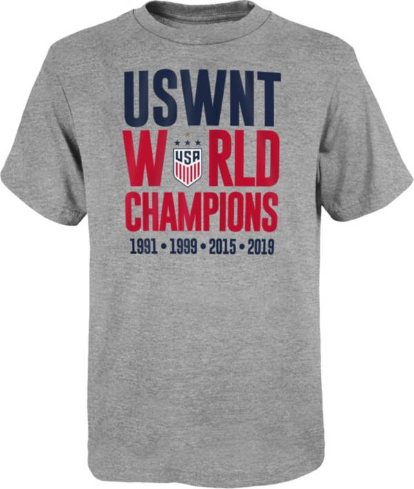Outerstuff Youth 2019 FIFA Women's World Cup Champions USA Soccer World T-Shirt product image