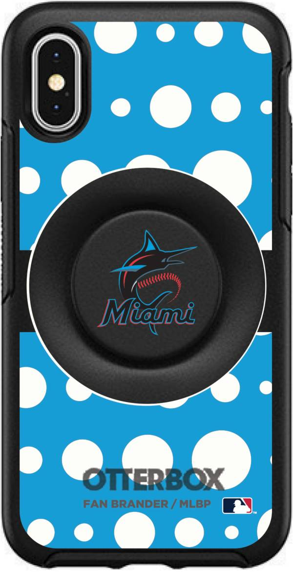 Otterbox Miami Marlins Polka Dot iPhone Case with PopSocket product image