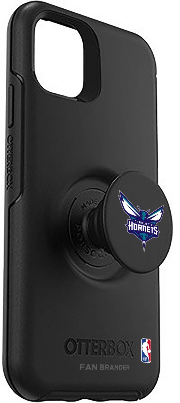Otterbox Charlotte Hornets Black iPhone Case with PopSocket product image