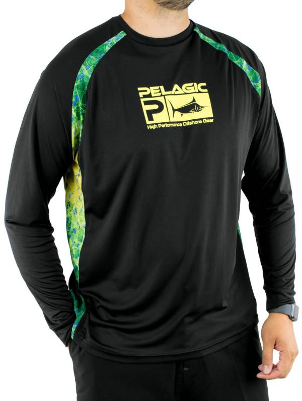 Pelagic Men's VaporTek Sideline Performance Dorado Hex Fishing Shirt product image