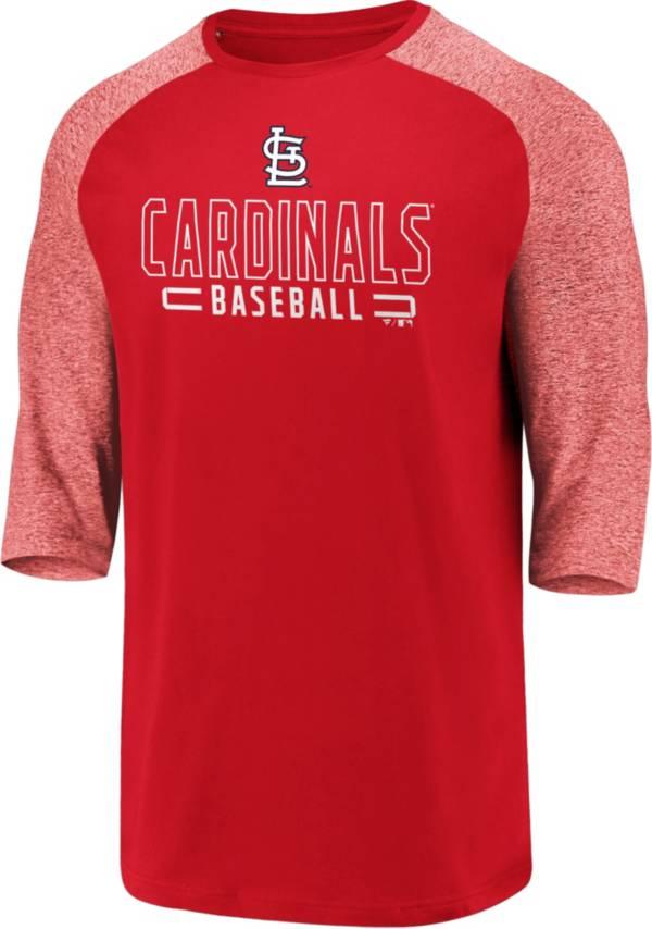 Fanatics Men's St. Louis Cardinals Red Marble Three-Quarter Sleeve T-Shirt product image