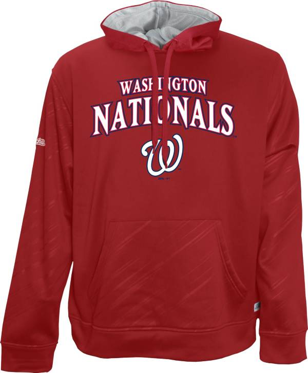 Stitches Men's Washington Nationals Red Pullover Raglan Hoodie product image
