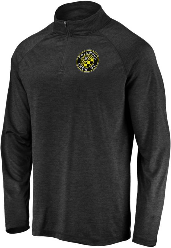 MLS Men's Columbus Crew Logo Black Quarter-Zip Pullover product image