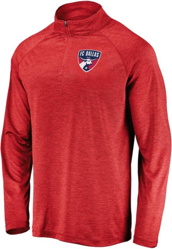 MLS Men's FC Dallas Logo Red Quarter-Zip Pullover product image
