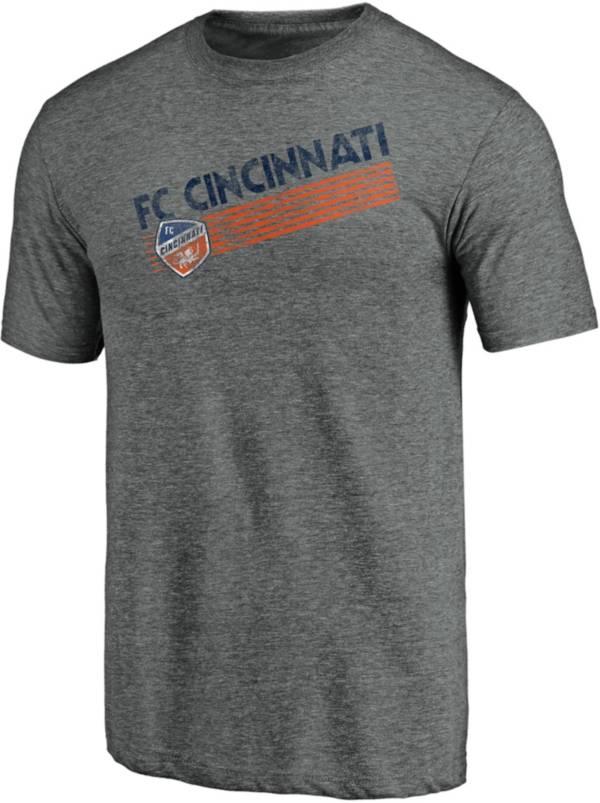 MLS Men's FC Cincinnati Retro Speed Grey Tri-Blend T-Shirt product image