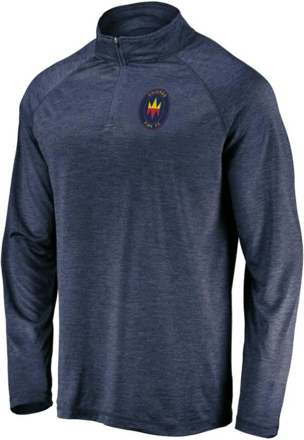 MLS Men's Chicago Fire Logo Navy Quarter-Zip Pullover product image