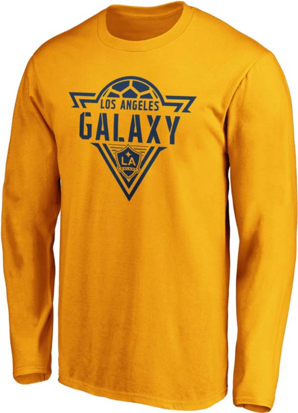 MLS Men's Los Angeles Galaxy Iconic Phalanx Yellow Long Sleeve Shirt product image