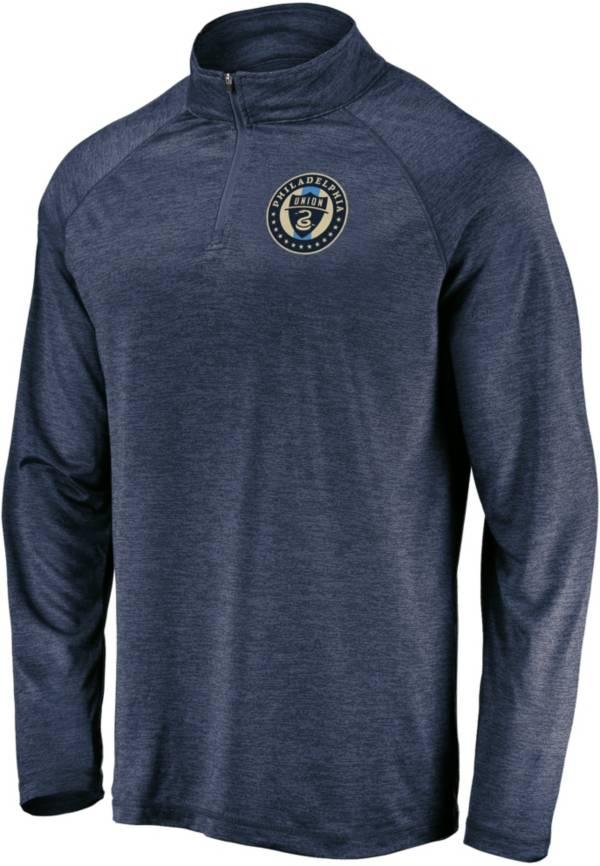MLS Men's Philadelphia Union Logo Navy Quarter-Zip Pullover product image