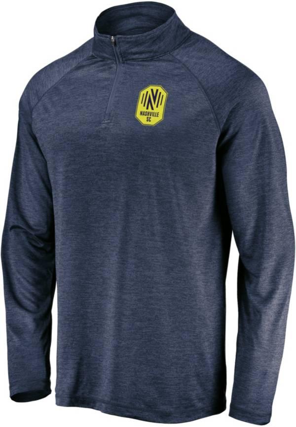 MLS Men's Nashville SC Logo Navy Quarter-Zip Pullover product image