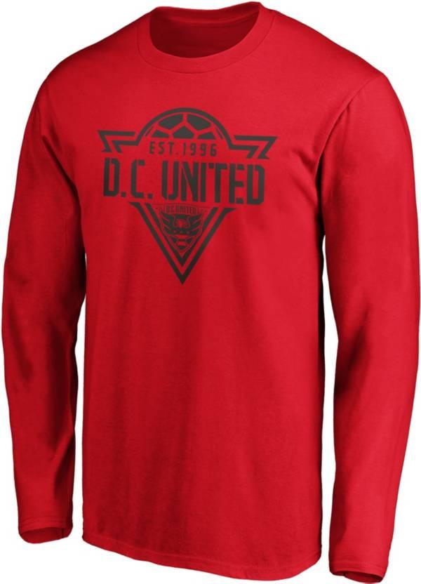 MLS Men's D.C United Iconic Phalanx Red Long Sleeve Shirt product image