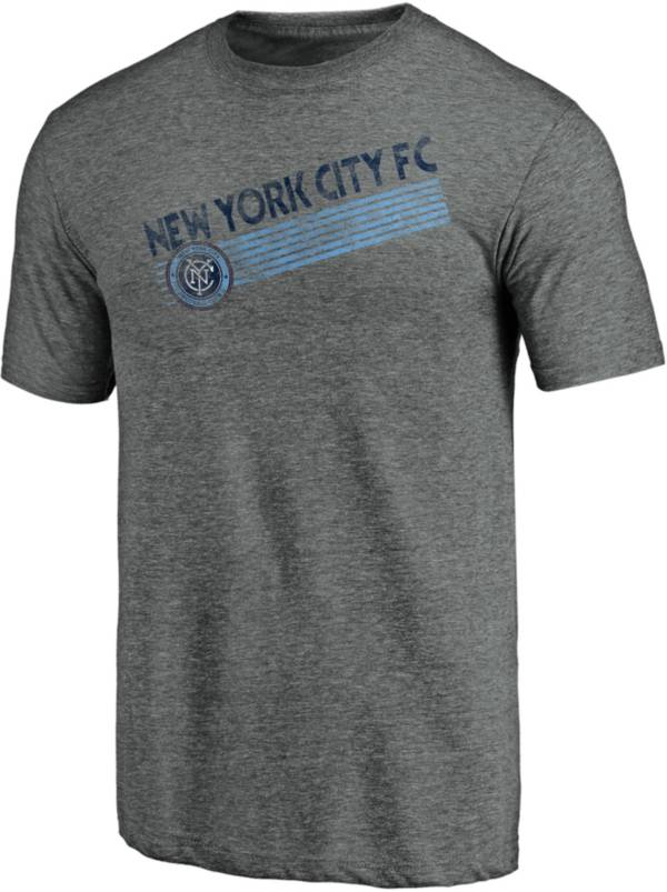 MLS Men's New York City FC Retro Speed Grey Tri-Blend T-Shirt product image