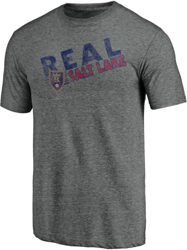 MLS Men's Real Salt Lake Retro Speed Grey Tri-Blend T-Shirt product image
