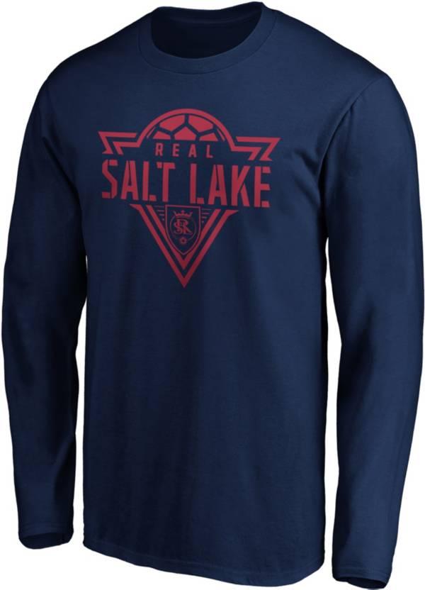 MLS Men's Real Salt Lake Iconic Phalanx Navy Long Sleeve T-Shirt product image