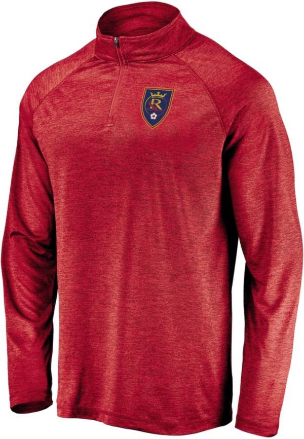 MLS Men's Real Salt Lake Logo Red Quarter-Zip Pullover product image