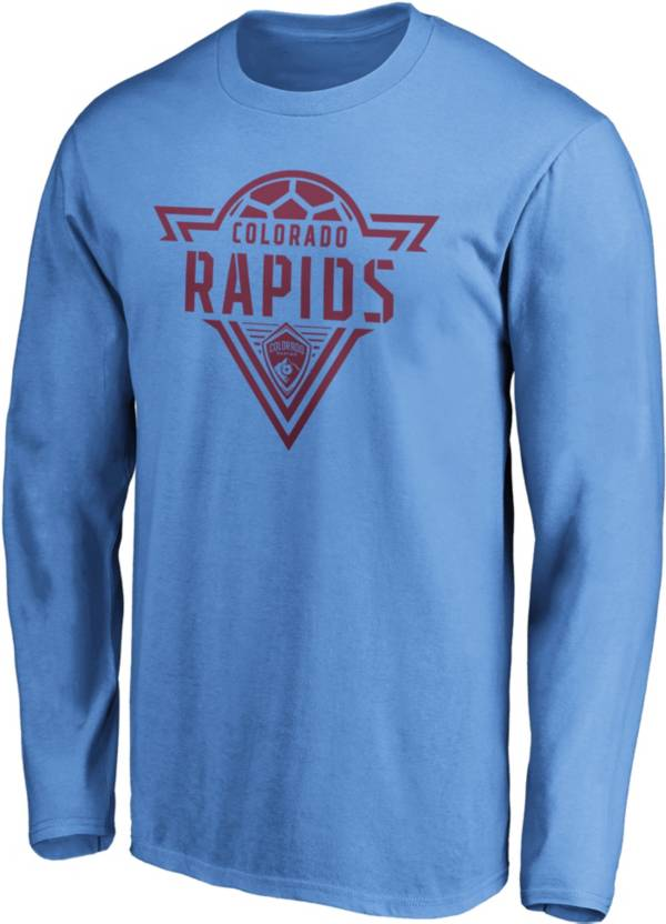 MLS Men's Colorado Rapids Iconic Phalanx Blue Long Sleeve Shirt product image