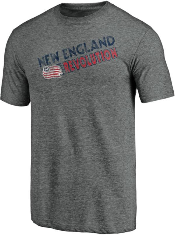 MLS Men's New England Revolution Retro Speed Grey Tri-Blend T-Shirt product image