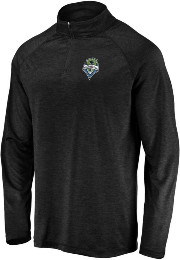 MLS Men's Seattle Sounders Logo Black Quarter-Zip Pullover product image