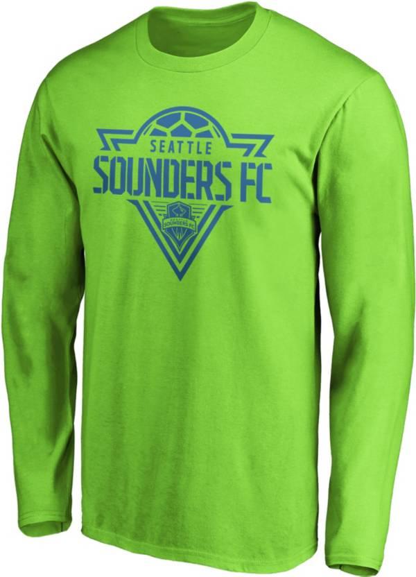 MLS Men's Seattle Sounders Iconic Phalanx Green Long Sleeve Shirt product image