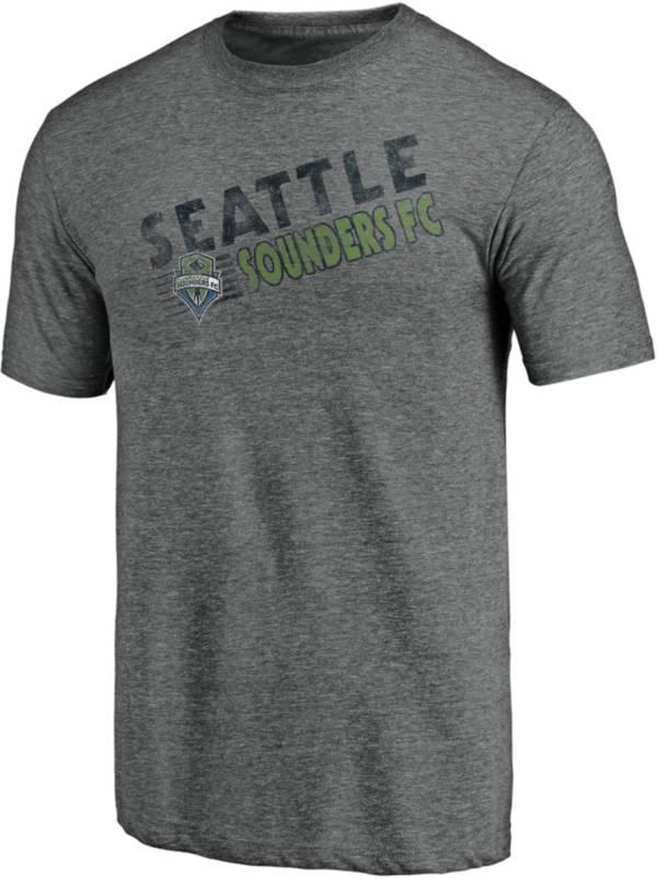 MLS Men's Seattle Sounders Retro Speed Grey Tri-Blend T-Shirt product image