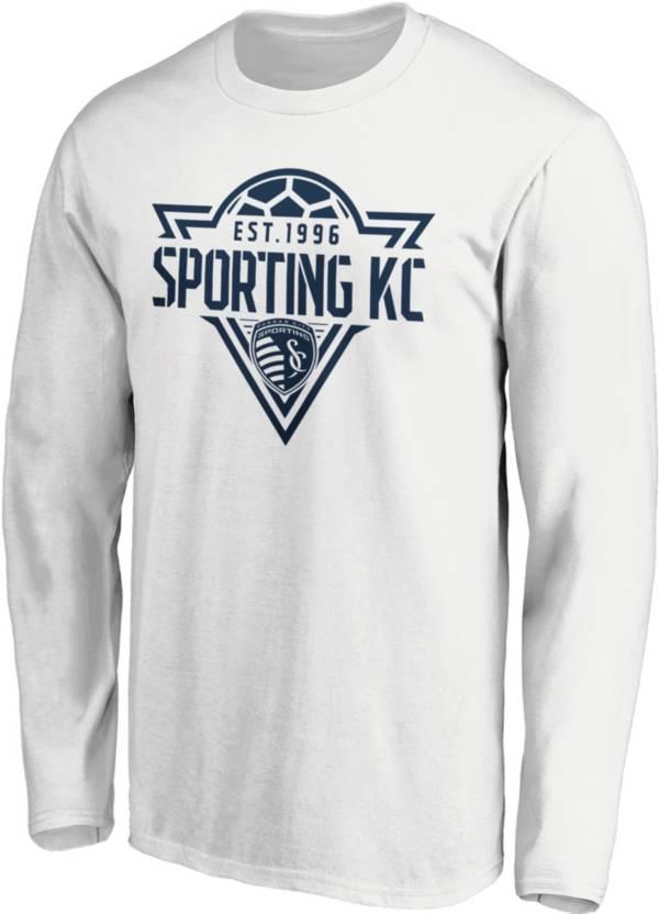MLS Men's Sporting Kansas City Iconic Phalanx White Long Sleeve Shirt product image
