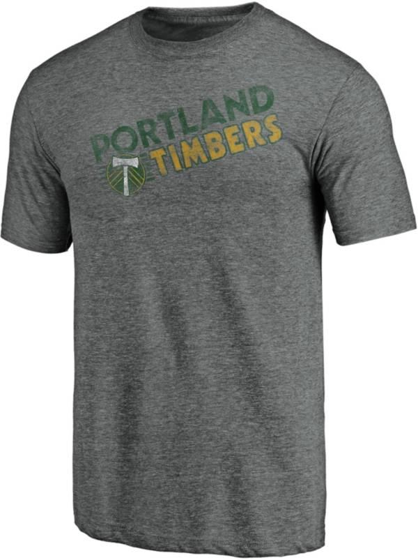 MLS Men's Portland Timbers Retro Speed Grey Tri-Blend T-Shirt product image
