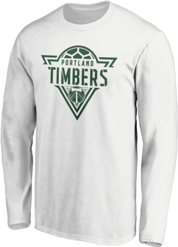 MLS Men's Portland Timbers Iconic Phalanx White Long Sleeve T-Shirt product image