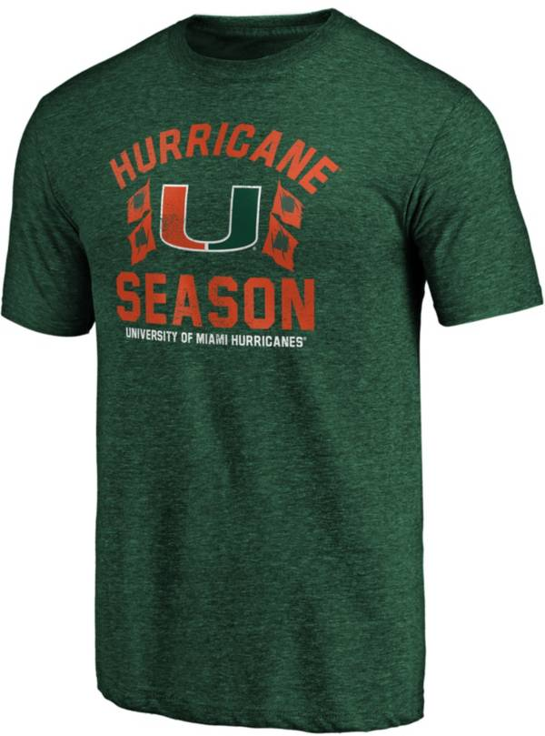 NCAA Men's Miami Hurricanes Green Category 5 T-Shirt product image
