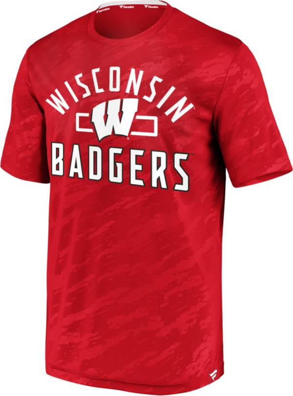 NCAA Men's Wisconsin Badgers Red Icon Defend T-Shirt product image
