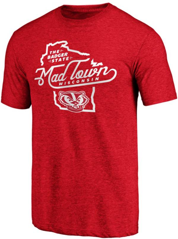 NCAA Men's Wisconsin Badgers Red Mad Town T-Shirt product image